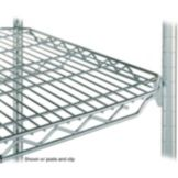 "Metro® 1848QC qwikSLOT™ 18 x 48"" Chrome Finish Wire Shelf"