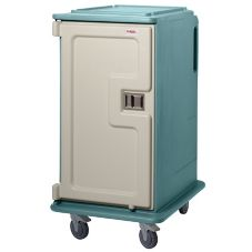 Cambro Slate Blue Tall 2-Comp. Meal Delivery Cart for 14 x 18 Trays