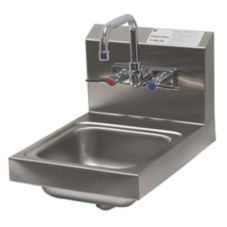 "Advance Tabco 7-PS-23 9"" Wide Space Saver Splash Mounted Hand Sink"