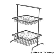 "Dover European Metalworks Steel 2-Tier 12 x 12"" Mini Pane Stand"