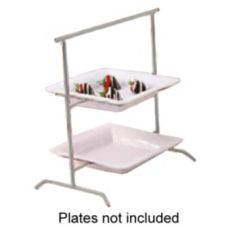 Dover European Metalworks Nickel Chrome Plated 2-Tier Ravello Stand