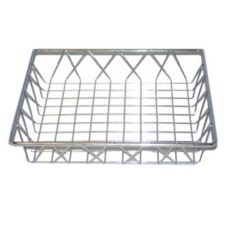 "Dover European Metalworks Nickel Chrome 12"" Sq French Pastry Tray"