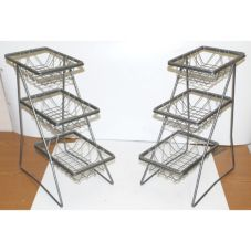 Dover Metals D-6027SB Steel 3-Tier Platter Stand With Pastry Trays