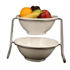 Dover European Metalworks Small Chrome Finish Bowl Stand w/ 2 Bowls