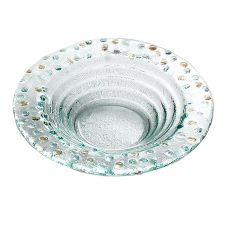 "Bon Chef 100513 Pebbles Collection 8"" Round Glass Bowl - 12 / CS"