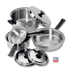 Regalware® S/S 7-Piece 3-Ply Cookware Set