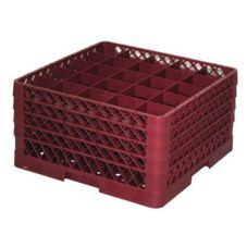 Traex TR6BBBB-21 Burgundy 25 Compartment Glass Rack with 4 Extenders