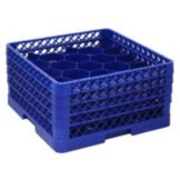 Traex TR11GGA-44 Royal Blue 20 Compartment Glass Rack with 3 Extenders