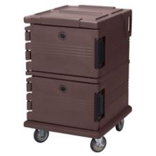 Cambro UPC1200131 Dark Brown Ultra Camcarts for 12 Full Size Food Pans