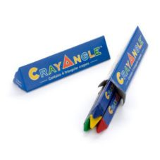 CrayAngles Triangular Crayons, 4 Colors per Box