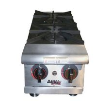 "APW Wyott HHP-212 12"" Cookline Gas (2) 30000 BTU Burner Hot Plate"