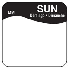 "DayMark 1100347 MoveMark Trilingual 1"" Sunday Day Square - 1000 / RL"