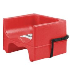 Cambro 200BCS158 Hot Red Dual Seat Booster Seat w/ Strap - 4 / CS
