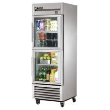 True® TS-23G-2 Reach-In 2-Half Glass Door 23 Cu Ft Refrigerator