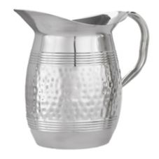 American Metalcraft S/S Hammered Tall 68 oz Bell Water Pitcher