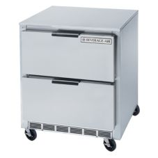 Beverage-Air UCRD27A-2 S/S 1-Door 2-Drawer Undercounter Refrigerator