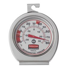 Rubbermaid® FGR80DC Refrig / Freezer 20F/80F Thermometer - 12 / DZ