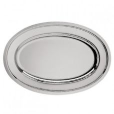 "Oneida K0012742A Noblesse 18"" Silverplated Oval Meat Platter"