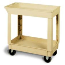 "Continental 5805BE-PN Beige 2-Shelf Pneumatic 40"" Utility Cart"