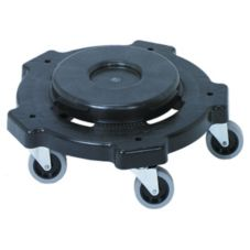 Continental 3255 Round Black Dolly For 20-55 gal Huskee Receptacles