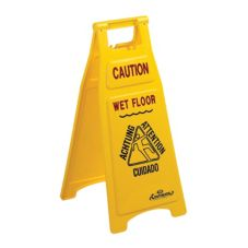"Continental 119 Yellow 26"" Caution Wet Floor Sign"