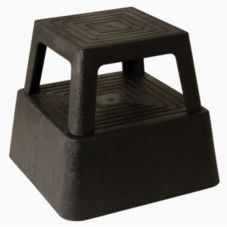 "Continental Black Plastic 2-Step 13"" Stepstool"