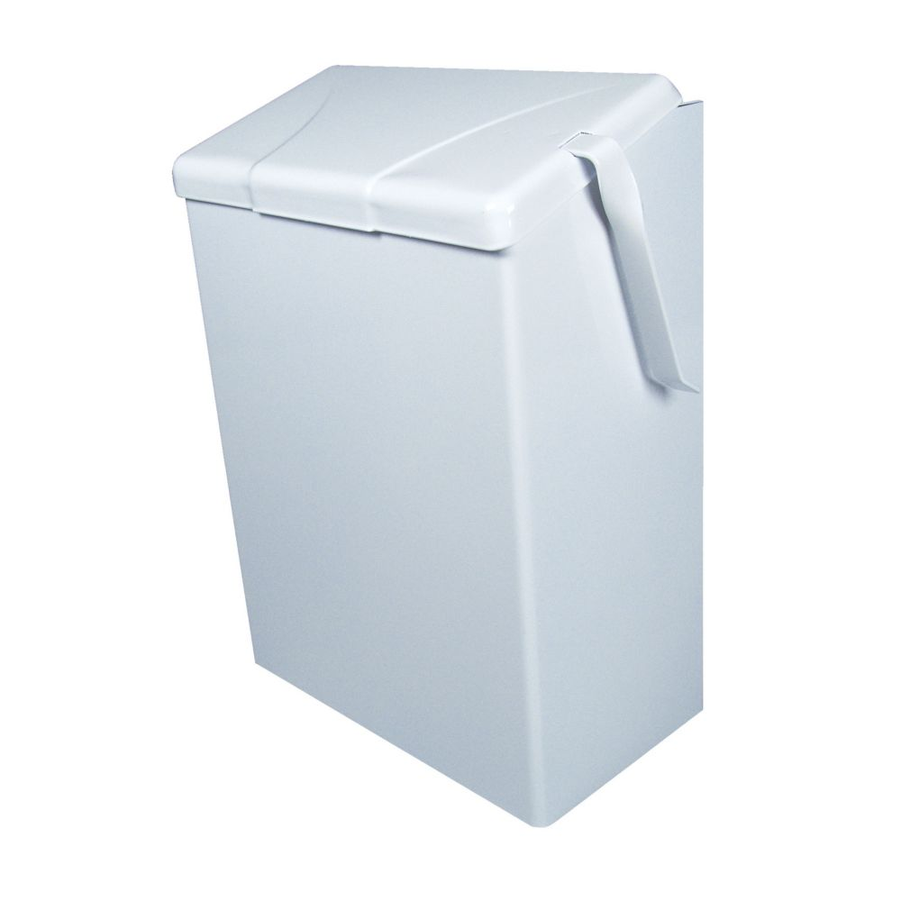 "CONTINENTAL MANUFACTURING Continental White 12"" Sanitary Napkin Receptacle at Sears.com"
