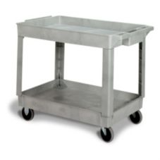 "Continental 5805GY Gray 2-Shelf 40"" Utility Cart"