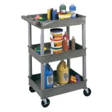 "Luxor STC111-G 18"" x 24"" 3 Shelf Tub Cart"