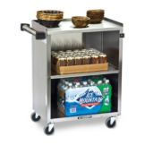 Lakeside® Black 300 lb Capacity 3-Shelf Enclosed Bussing Cart