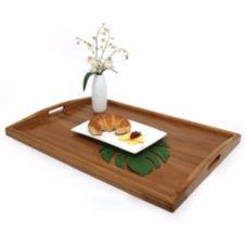 "FOH® RRT003BBB10 26"" x 18"" Bali Bamboo Service Tray"
