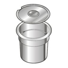 "Wells Manufacturing 20587 Round 7 Qt. Inset for 8.5"" Openings"