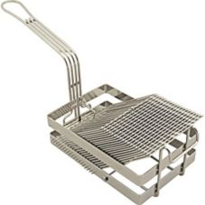 FMP 226-1062 Nickel / Chrome-Plated 18 Slot Tostada Basket