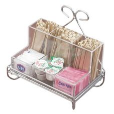 "Cal-Mil® 1081-39 Wire Frame 9 x 6; x 8"" Coffee Condiment Unit"