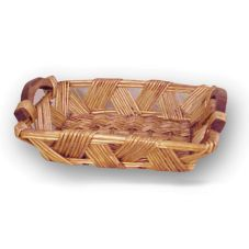 "Watson Trading 1082301 15 x 11 x 4""  Willow Basket With Wooden Handles"