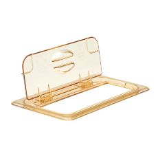 Cambro® Amber H-Pan® 1/3-Size High Heat FlipLid Food Pan Cover