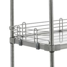 Metro® L14WS Super Erecta® 4 x 14 Stainless Shelf Ledge