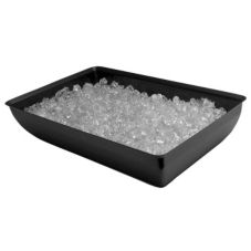 "Gourmet Display® 20-1/2"" x 12-3/4"" Black Chiller Pan"