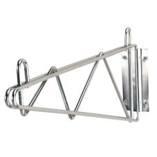 "Advance Tabco SB-18 Chrome 18"" Shelf Mounting Single Bracket"