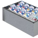 "Cal-Mil 473-12-16 Granite Gray 12 x 20"" Acrylic Ice Pan Housing"