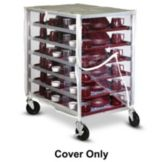 Dinex DXDHOR12COVER Clear Vinyl Zippered Front Cart Cover for DHOR12