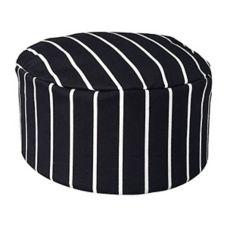 Chefwear® 1430-35 Black Chalkstripe Chef Skull Cap