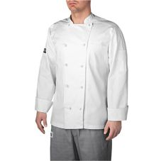 Chefwear® 5000-30LARGE Large Black Lined Five-Star Chef Jacket