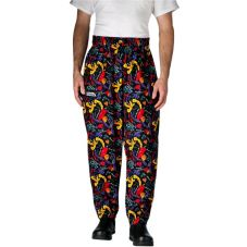 Chefwear® 3000-18 XLG XL Black Chile Pepper Baggy Chef Pants