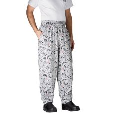 Chefwear® 3000-06 LG Large Utensils Baggy Chef Pants