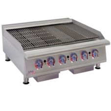 "APW Wyott HCB-2436 Cookline 36"" Gas Radiant 6-Burner Charbroiler"