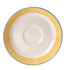 "Steelite 15300218 Simplicity Rio Yellow 6"" Saucer - 36 / CS"