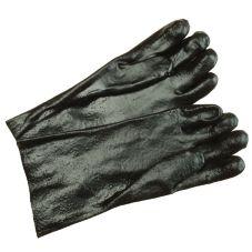 "Ritz GLR24BK Black 14"" Forearm-Length Rubber Cleaning Gloves - Pair"