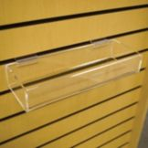 "Display Tray For Slatwall, Acrylic, 12"" x 4"" x 2"""