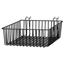 Wire Basket, Black, 12 x 12 x 4